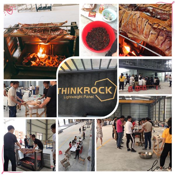 Wonderful BBQ time in our own factory.